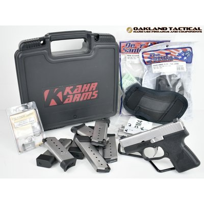 (Pre-owned) Kahr Arms PM9 9mm Pistol comes with 8 magazines, three holsters and original case with paperwork