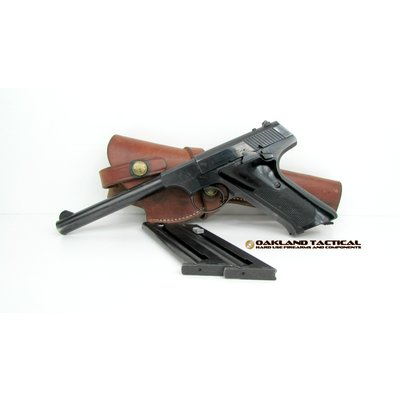 "(Pre-Owned) Colt Huntsman .22 LR 6.25"" Pistol comes with leather holster and two magazines"