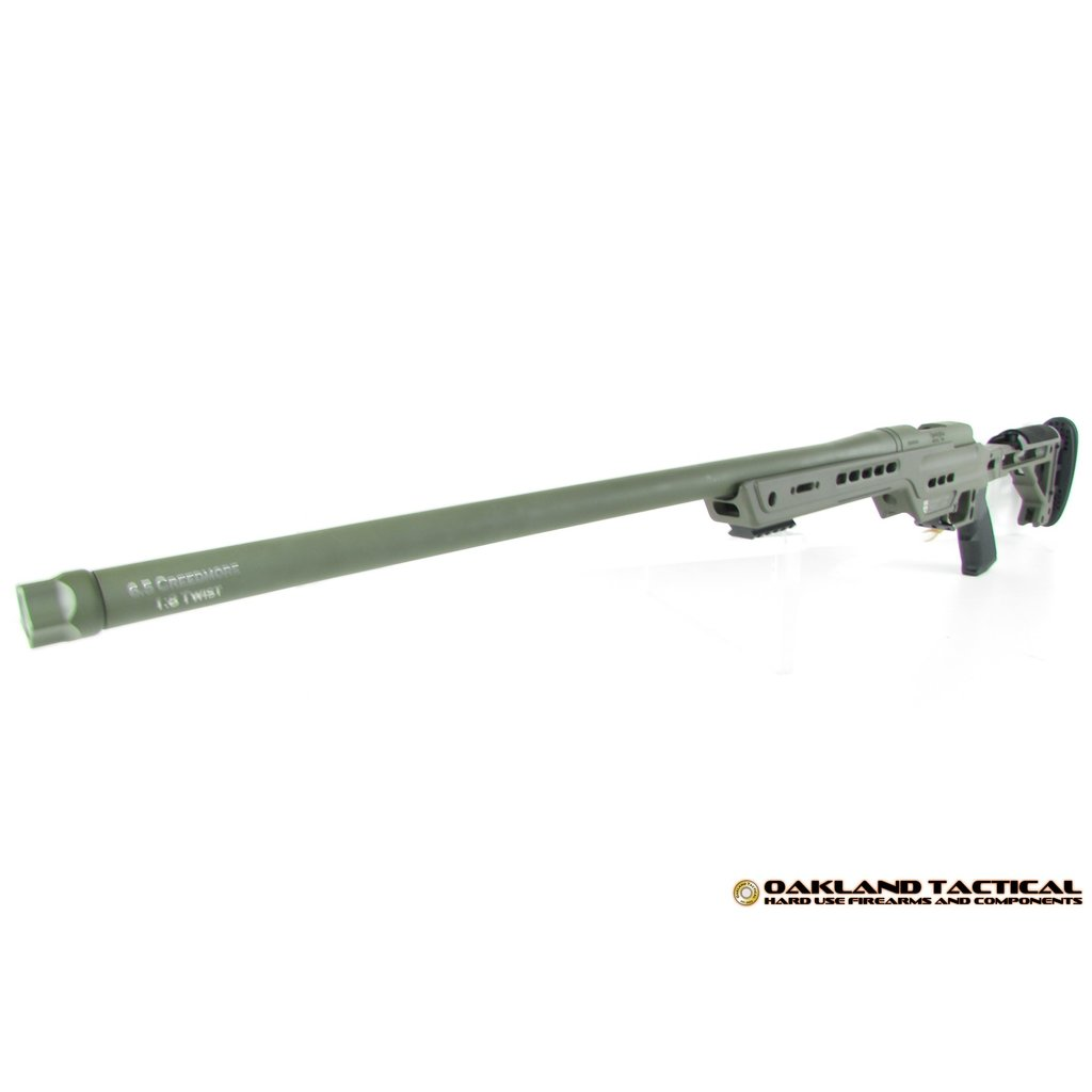 "Oakland Tactical OT-6.5 24"" Douglas XX Barrel Masterpiece Arms Chassis 6.5 Creedmoor OD Green"