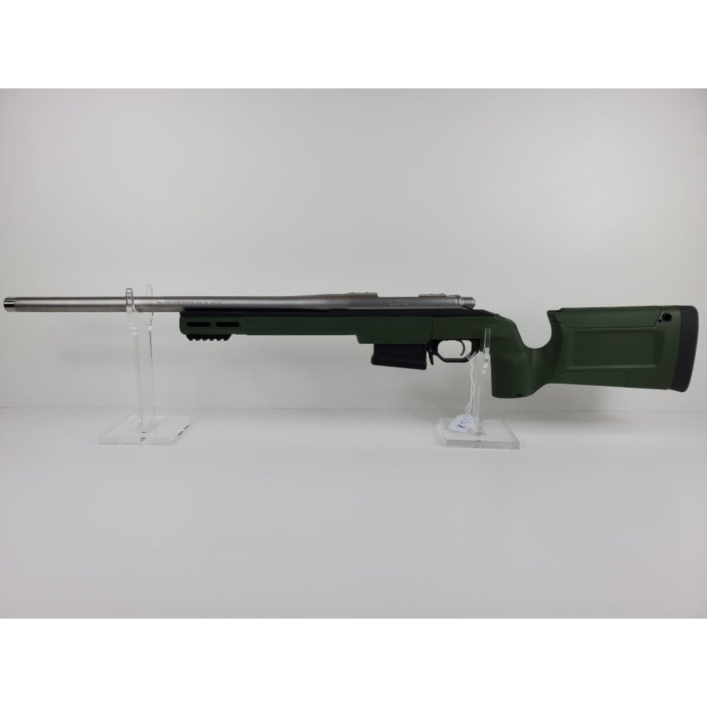 "Remington Model 700 Stainless 5-R 20"" Threaded Barrel .308 Winchester with KRG Sako Green Chassis"
