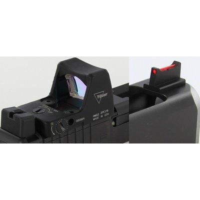 Dawson Precision Glock MOS Fixed Co-Witness Sight Set - Black Rear & Fiber Optic Front MFG# 310-070