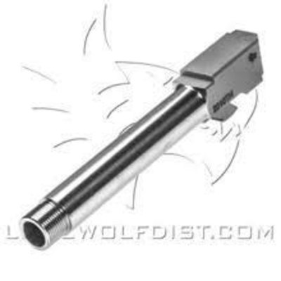 Lone Wolf LWD Barrel G20 10mm Threaded Black 9/16x24 MFG # LWD-2010THBLK UPC # 639737068849