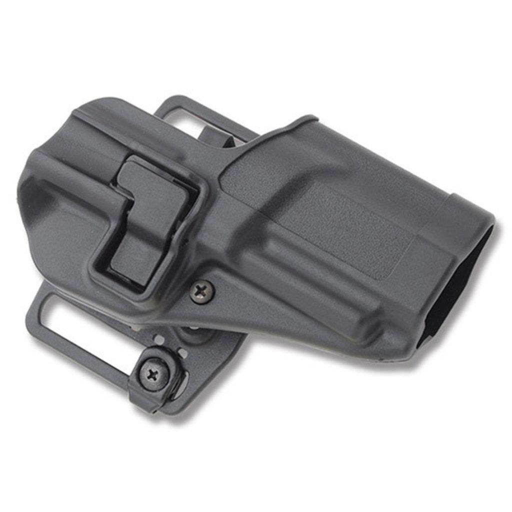 BlackHawk! CQC SERPA Belt Holster Right Hand Black FN Fiveseven Carbon Fiber Belt Loop and Paddle 410518BK-R