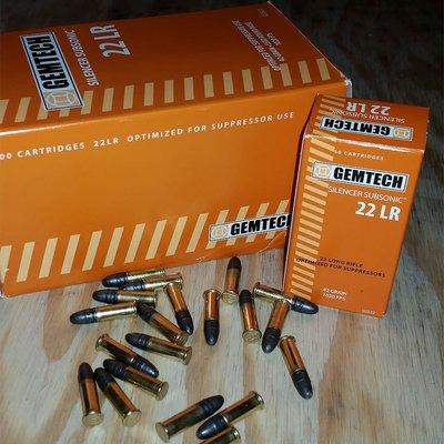 Gemtech Gemtech Subsonic .22 LR Ammunition MFG # AMMO22SS-BOX50 UPC # 609728889722