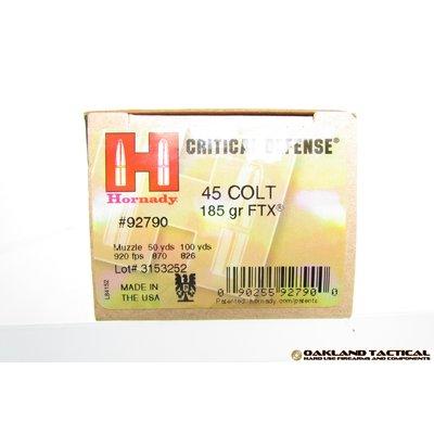 Hornady .45 Colt 185 Grain FTX Critical Defense 20 Cartridges MFG # 92790 UPC Code # 090255927900