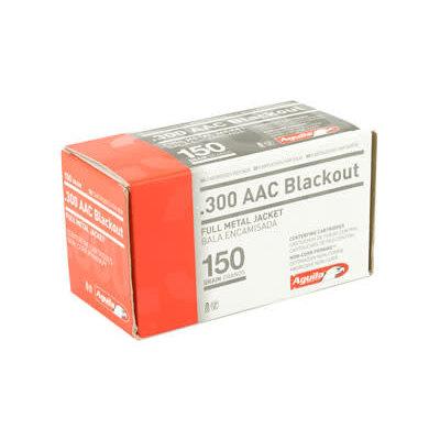AGUILA 300BLK 150GR FMJ 50/1000 MFG# 1E300110 UPC# 640420003313