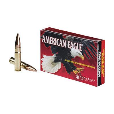 Federal FED AM EAGLE 300BLK 150GR FMJ 20/500 MFG# AE300BLK1 UPC# 604544617009