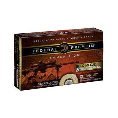 Federal FED GOLD MDL 6.5CREED 140GR SMK 20/2 MFG# GM65CRD1 UPC# 604544630312
