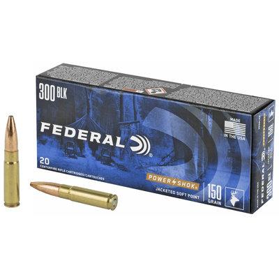 Federal FED 300BLK 150GR POWER-SHK SP 20/200 MFG# 300BLKB UPC# 604544650488