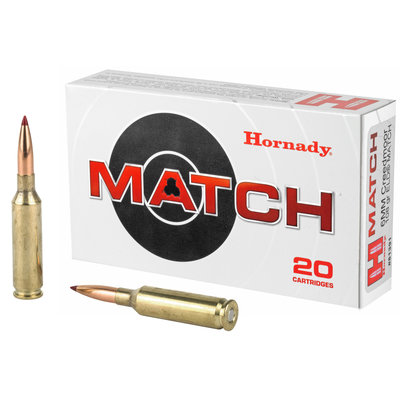 Hornady 6mm Creedmoor 108 Grain ELD Match 20 Round MFG # 81391 UPC # 090255813913