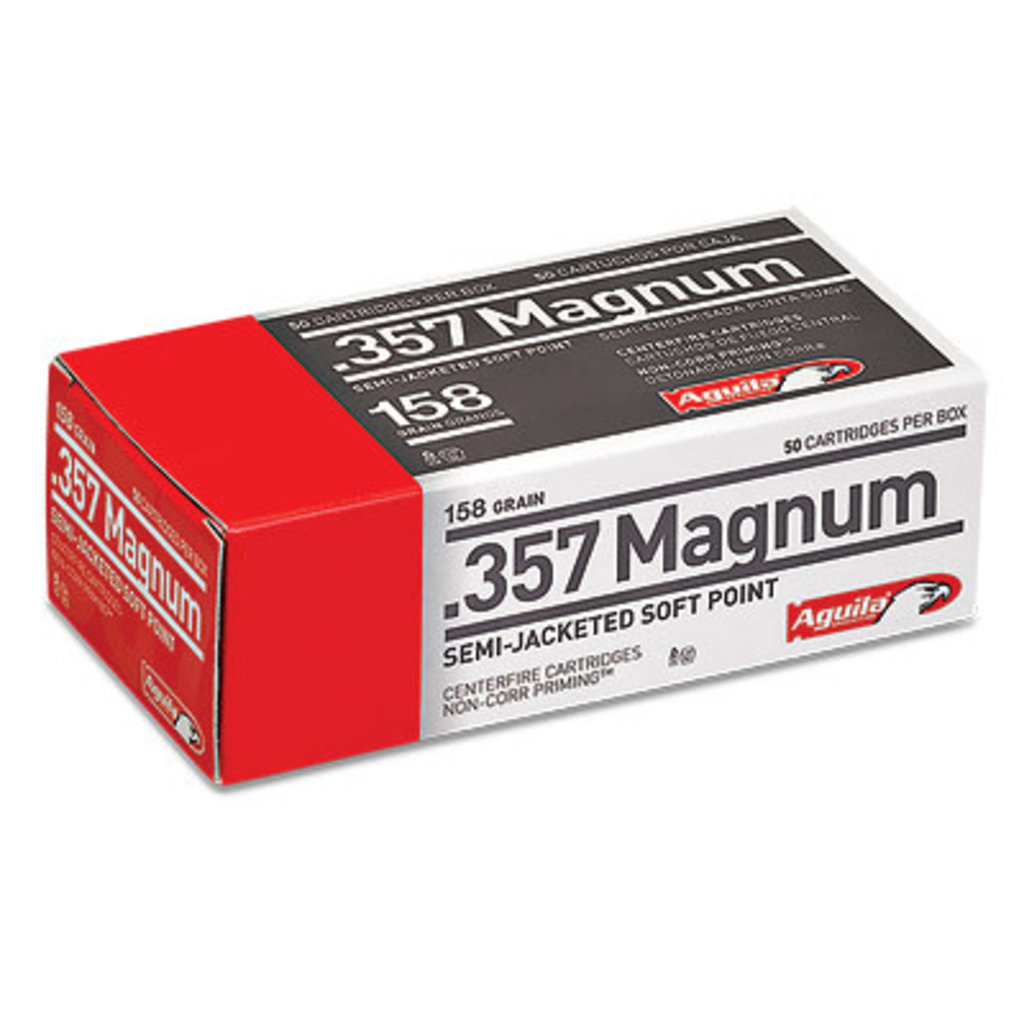 AGUILA 357MAG 158GR SJSP 50/1000 MFG# 1E572823 UPC# 640420003160