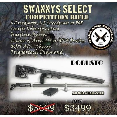 Swannys Select Oakland Tactical Robusto Competition Rifle