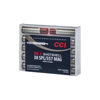CCI/Speer CCI 38/357 #4 SHOTSHELL10/200 MFG# 3714CC UPC# 604544618174