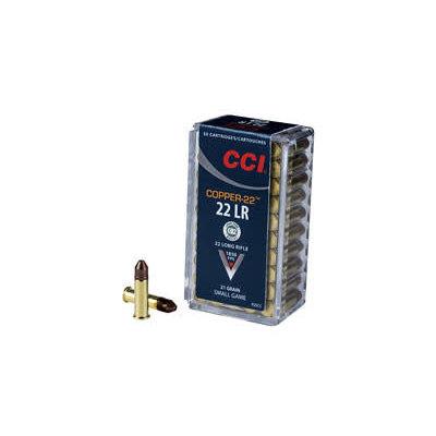 CCI/Speer CCI COPPER-22 22LR 21GR 50/5000 MFG# 925CC UPC# 604544617467