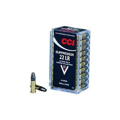 CCI/Speer CCI 22LR SUPPRESSOR 45GR HP 50/5000 MFG# 957 UPC# 076683009579