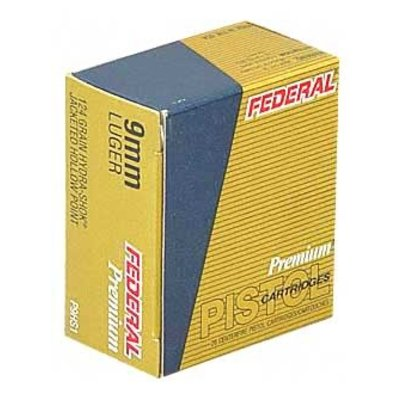 Federal FED HYDRA-SHOK 9MM 124GR HP 20/500 MFG# P9HS1 UPC# 029465088330