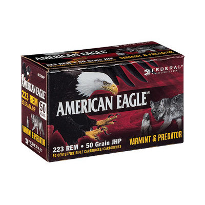 Federal FED AM EAGLE V&P 223REM 50GR 50/250 MFG# AE22350VP UPC# 604544617382