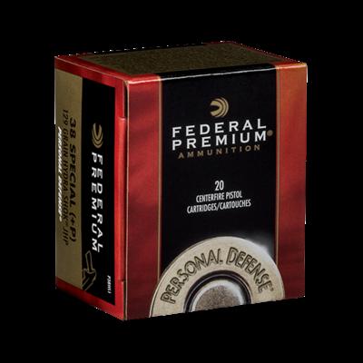 Federal Federal Premium Ammunition Personal Defense .38 Special Hydra-Shok 129 Grain MFG # P38HS1 UPC # 029465088323