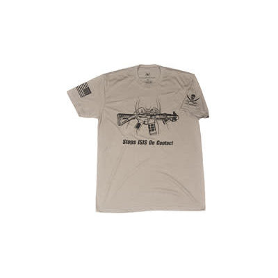 Spike's Tactical SPIKE'S TSHIRT STOPS ISIS GRAY MD MFG# SGT1071-M UPC# 815648024765