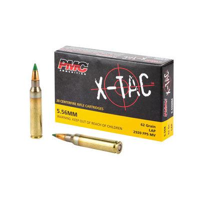 PMC AMMUNITION X-TAC 5.56 NATO 62 GRS. GREEN Tip MFG# 5.56K UPC Code# 741569010122