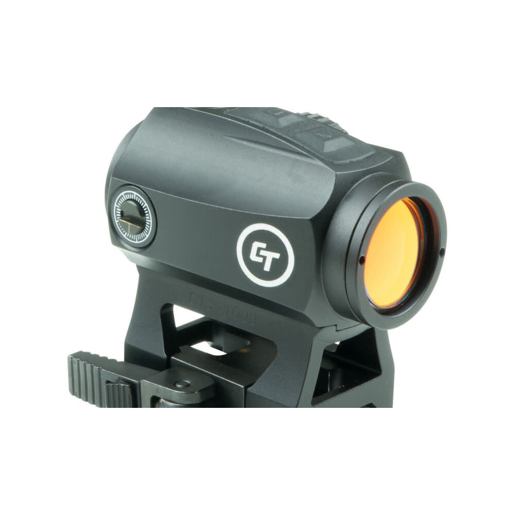 Crimson Trace Compact Red Dot Sight 1x 2 MOA Dot with Quick Detach Picatinny Mount Matte