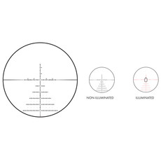 (pre-owned) US Optics, TS Series Rifle Scope, 2.5-20X50mm 34mm Main Tube Front Focal Plane 1/10 Mil Adjustments Black Finish Illuminated JVCR Reticle