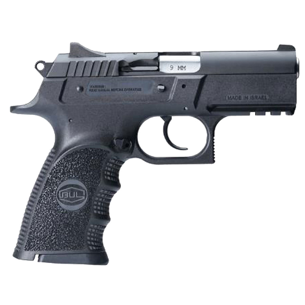 "BUL ARMORY USA Cherokee Compact 9mm Luger 3.66"" 17+1 Black Oxide Steel Slide Black Polymer Grip"