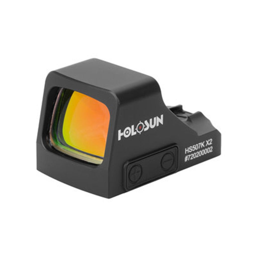 Holosun Technologies, 507K-X2, Red Dot, 32 MOA Ring & 2 MOA Dot, Black Color