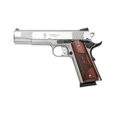 """Smith & Wesson S&W 1911 E 45ACP 8RD 5"""" STS WD 3DOT MFG #108482 UPC #022188084825"""