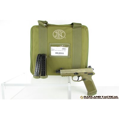 "FNH USA FNH USA FNX-45 Tactical 5.3"" .45 ACP Flat Dark Earth MFG #66968 UPC #845737000981"