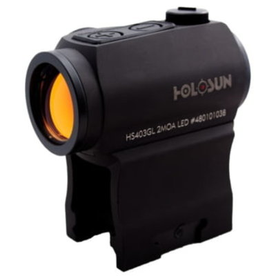 Holsun Technoligies Micro Red Dot 2 MOA 1X  20MM, Hi and Low Mount MFG# HS403R UPC Code# 605930625295