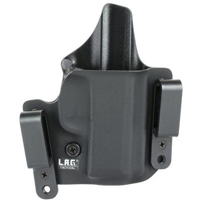L.A.G. Tactical Inc. Defender Series OWB/IWB Holster Fits SIG P365 Kydex Right Hand Black Finish