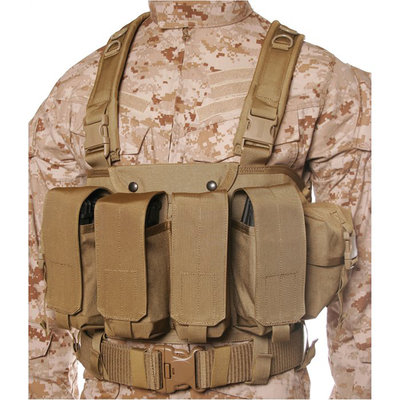BLACKHAWK, Commando Chest Harness, 4 Magazine Pouches, Coyote Tan