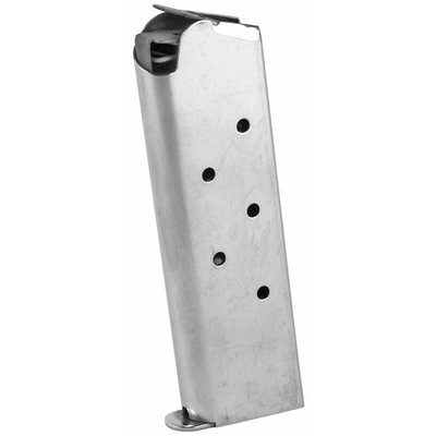 Ed Brown, Magazine, 45ACP, 7Rd, Stainless, Fits 1911, Includes 1 Thick and 1 Thin Base Pad
