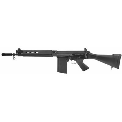 """DS Arms, SA 58 Carbine, Semi-automatic, 308 Win, 18"""" Barrel, Black Finish, Synthetic Stock, Adjustable Sights, 20Rd, Type 1 Receiver"""