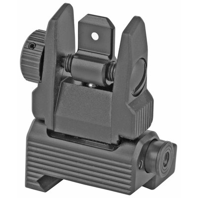 Leapers, Inc UTG, Accu-Sync Spring-loaded AR15Flop-up Rear Sight, Black MFG# MNT-957 UPC Code# 4707385553712
