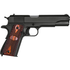 "Auto-Ordnance - Thompson 1911A1 GI 45ACP BLK/WD 5"" 7+1 | WOOD GRIPS W/U.S. LOGO 45 ACP UPC# 602686251136"