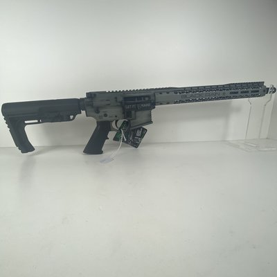 "Black Rain Ordnance, Billet Rifle, Semi-automatic, AR, 223 Rem/556NATO, 16"" Barrel, Smith's Grey Battleworn Cerakote Finish, MFT Minimalist Stock, 30Rd"
