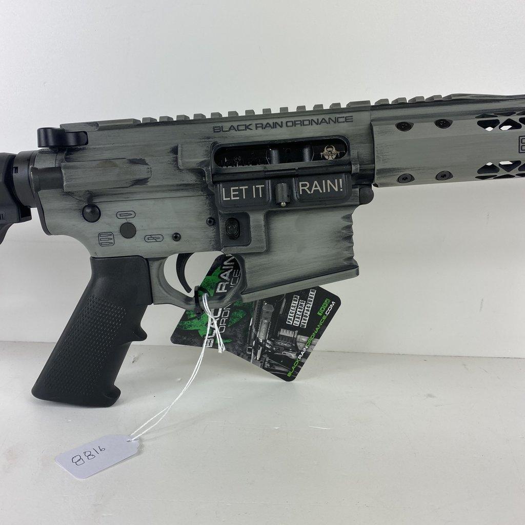 "Black Rain Ordnance, Billet Rifle, Semi-automatic, AR, 223 Rem/556NATO, 16"" Barrel, Smith's Grey Battleworn Cerakote Finish, MFT Minimalist Stock, 30Rd"