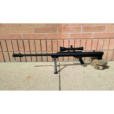 "Barrett (Pre-Owned) Barrett, 99A1, Bolt Action, 50BMG, 32"" Heavy Barrel, Black Finish, Bi-Pod With Scope and Silencer"