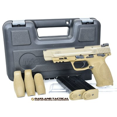 """Smith and Wesson M&P 2.0 Semi-Auto Striker Fired 9mm 5"""" 17rd Thumb Safety Flat Dark Earth MFG# 11537 UPC# 022188869057"""