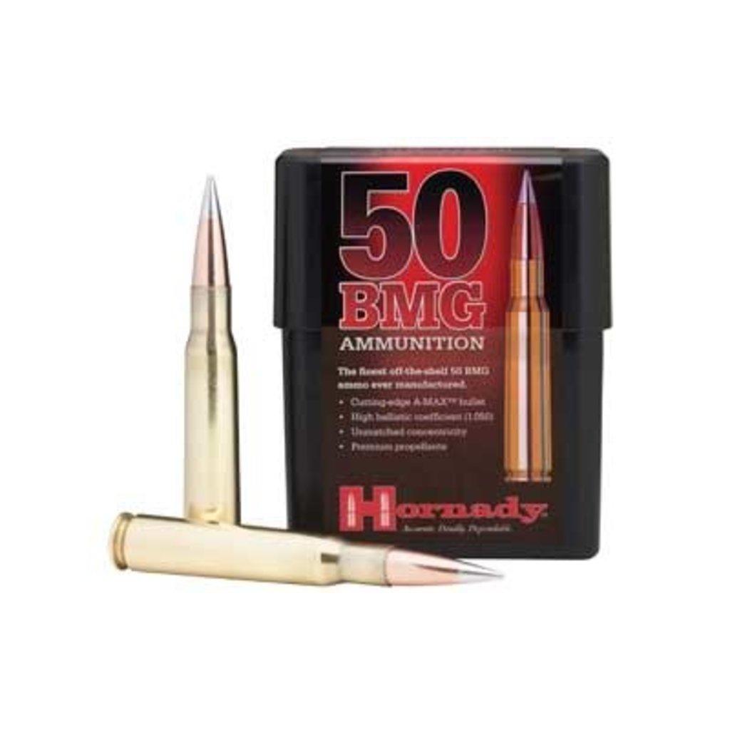 Hornady Hornady Match AMAX 50BMG 750 Grain 10/100 MFG# 8270 UPC# 090255382709