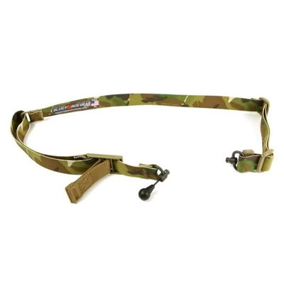 Blue Force Gear Vickers 2-to-1 Sling Black Unpadded Red Swivel MFG # VCAS-2TO1-RED-125-AA-BK UPC # 814520019912