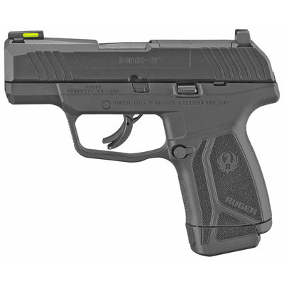 """Ruger Ruger, MAX-9, Semi-automatic, Striker Fired, Sub-Compact, 9MM, 3.2"""" Barrel, Black Oxide Finish, Polymer Frame, No Thumb Safety, Optic Ready, Front TFO Night Sight, 12Rd, 1-12Rd and 1-10 Magazine"""