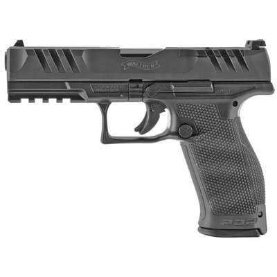 """Walther Walther, PDP, Optics Ready, Semi-automatic, Polymer Frame, Striker Fired, Full Size Frame, 9MM, 4.5"""" Barrel, Adjustable Rear Sight, Black, 18Rd"""