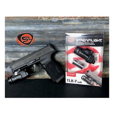 Streamlight, TLR-7 Sub Weaponlight, 500 Lumens, Black, For Sig P365/XL, MFG# 69401, UPC# 080926694019