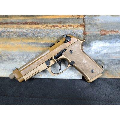 """BERETTA M9A4 G 9MM 5.2"""" 18 RND THREADED BBL TAN US OPTIC RDY UPC# 082442940687"""
