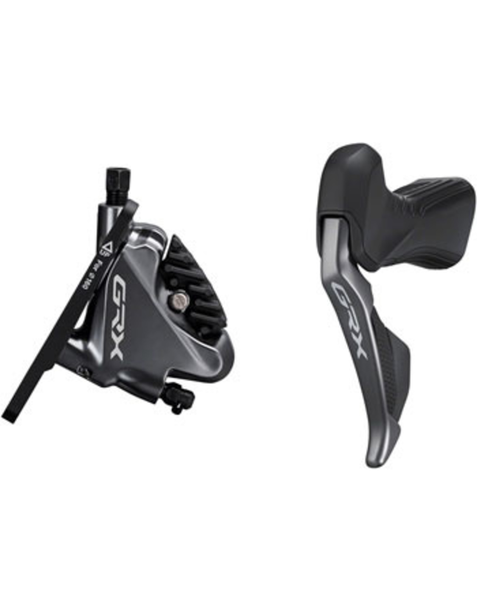 GRX ST-RX815 2 x 11-Speed Di2 Left Drop-Bar Shifter/Hydraulic Brake Lever with BR-RX810 Flat Mount Caliper, Pre-Bled, 1000mm Hose