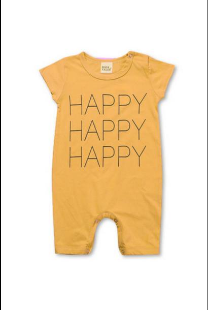 Happy Happy Happy Baby Romper