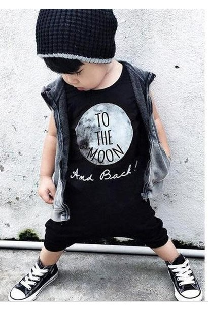 Baby Black To The Moon Romper